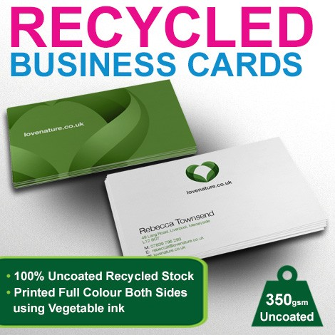 Category printing betterprinting better printing offers recycled business cards printed both sides as standard using vegetable based inks colourmoves